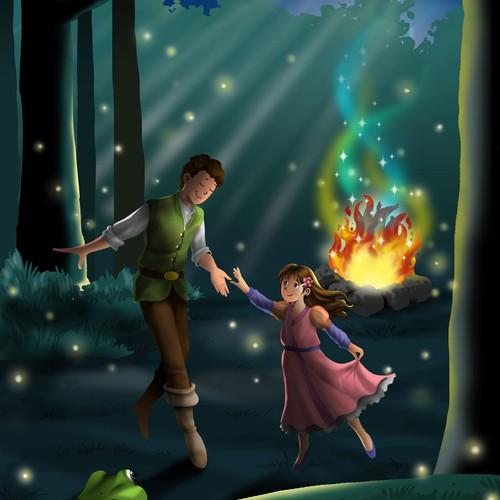 illustration for children story book
