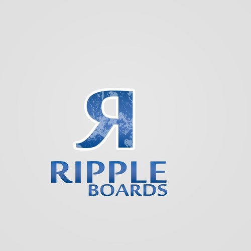 Create a capturing vintage paddleboard illustration for 'Ripple boards'