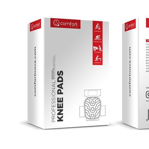 Knee pads packaging