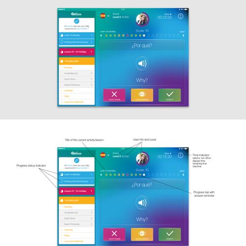 Language course app