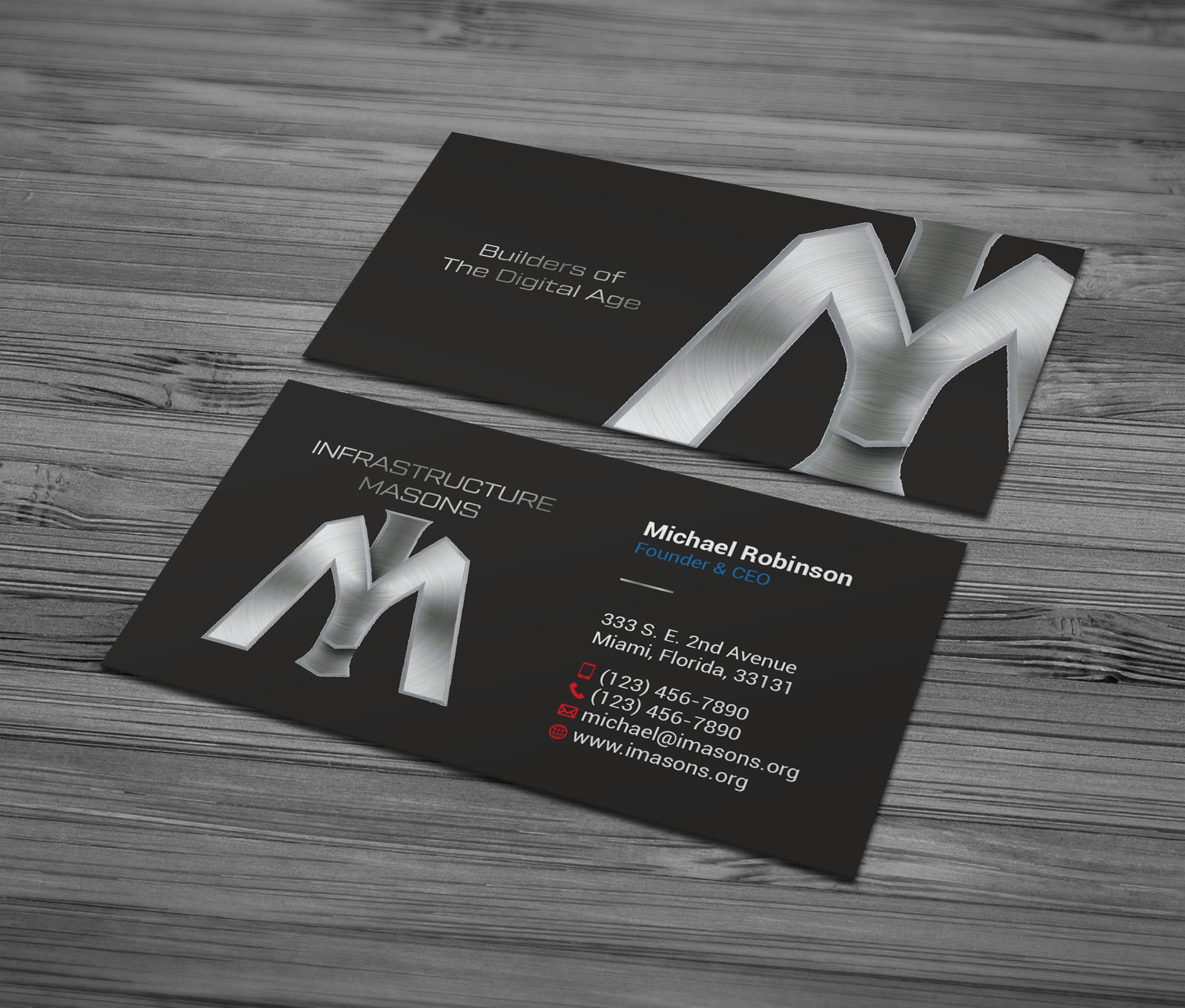 Biz cards for fast-growing association of data center professionals
