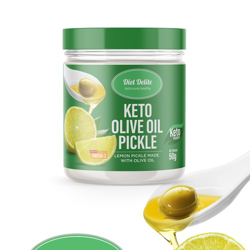 PACKAGE DESIGN FOR KETO OLIVE OIL PICKLE