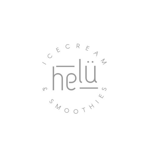 Minimalistic logo for ice-cream shop