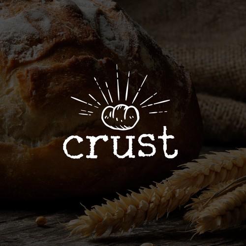 Logo design for bakery 'crust'