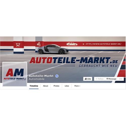 Facebook cover concept for Autoteile-markt.de