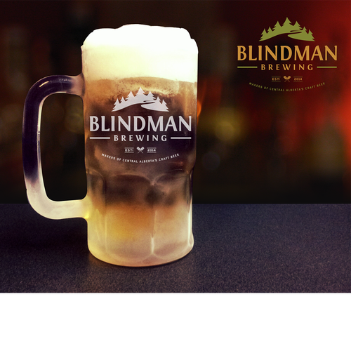 Vintage Logo Design for Blindman Brewing