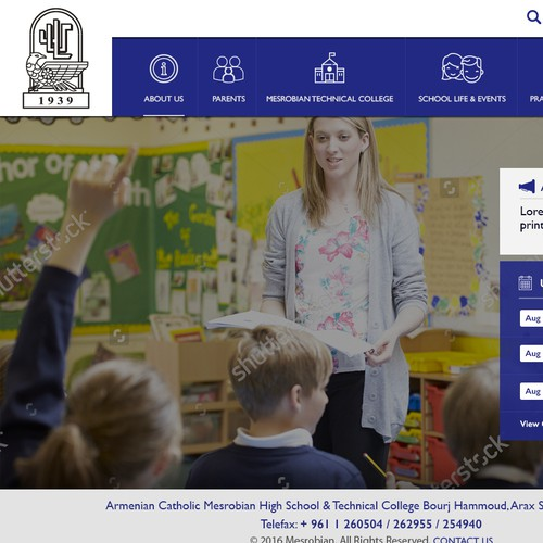 Create a Website Design For One of Our Schools