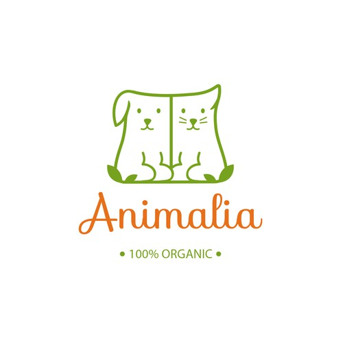 Logo design for dog and cat products.