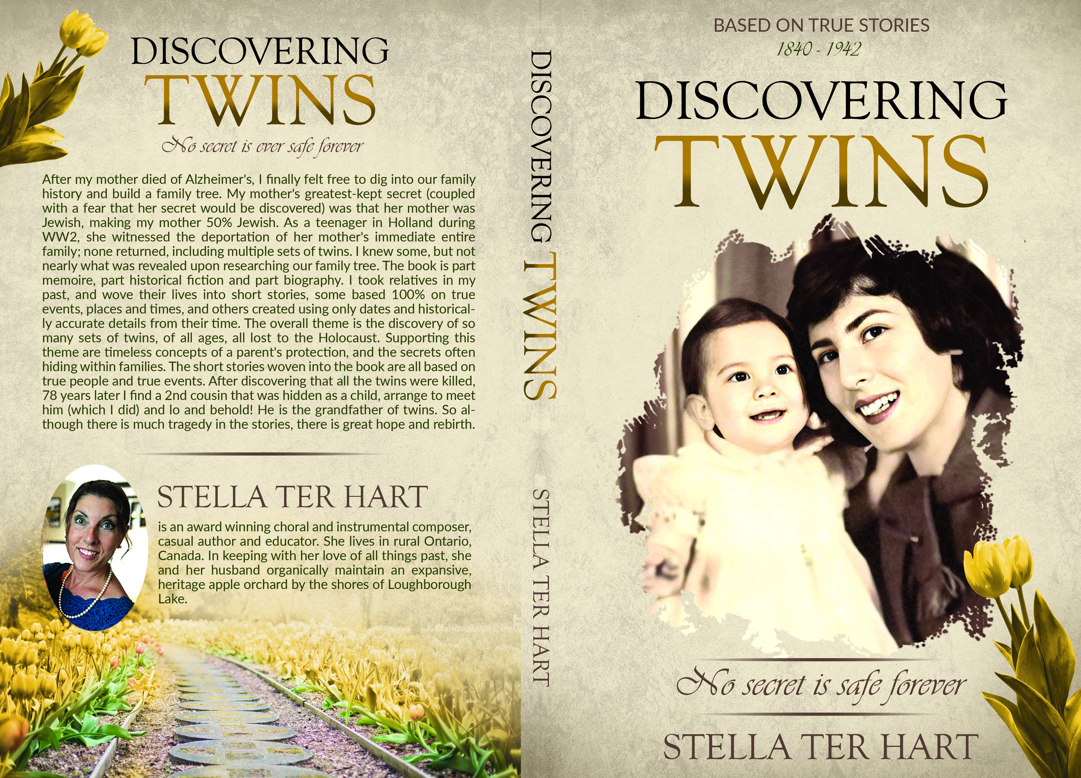 Emotional Book Cover Design for true stories of Holocaust Twins discovered