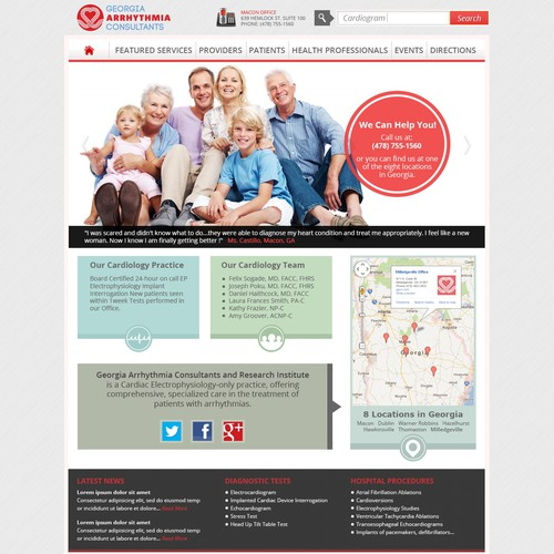 New website design wanted for Georgia Arrhythmia Consultants & Research Institute