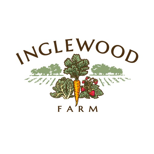 The final logo design for Inglewood Farm