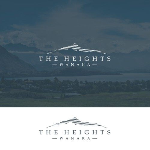 Logo design for a subdivision in a New Zealand alpine resort.