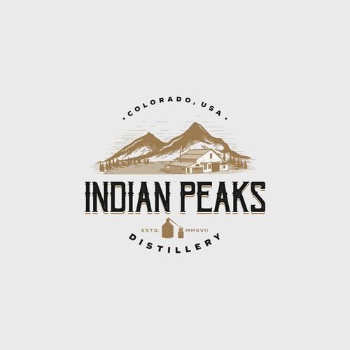 Logo Design for Indian Peaks Distillery