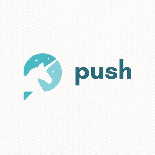 unicorn head logo for PUSH