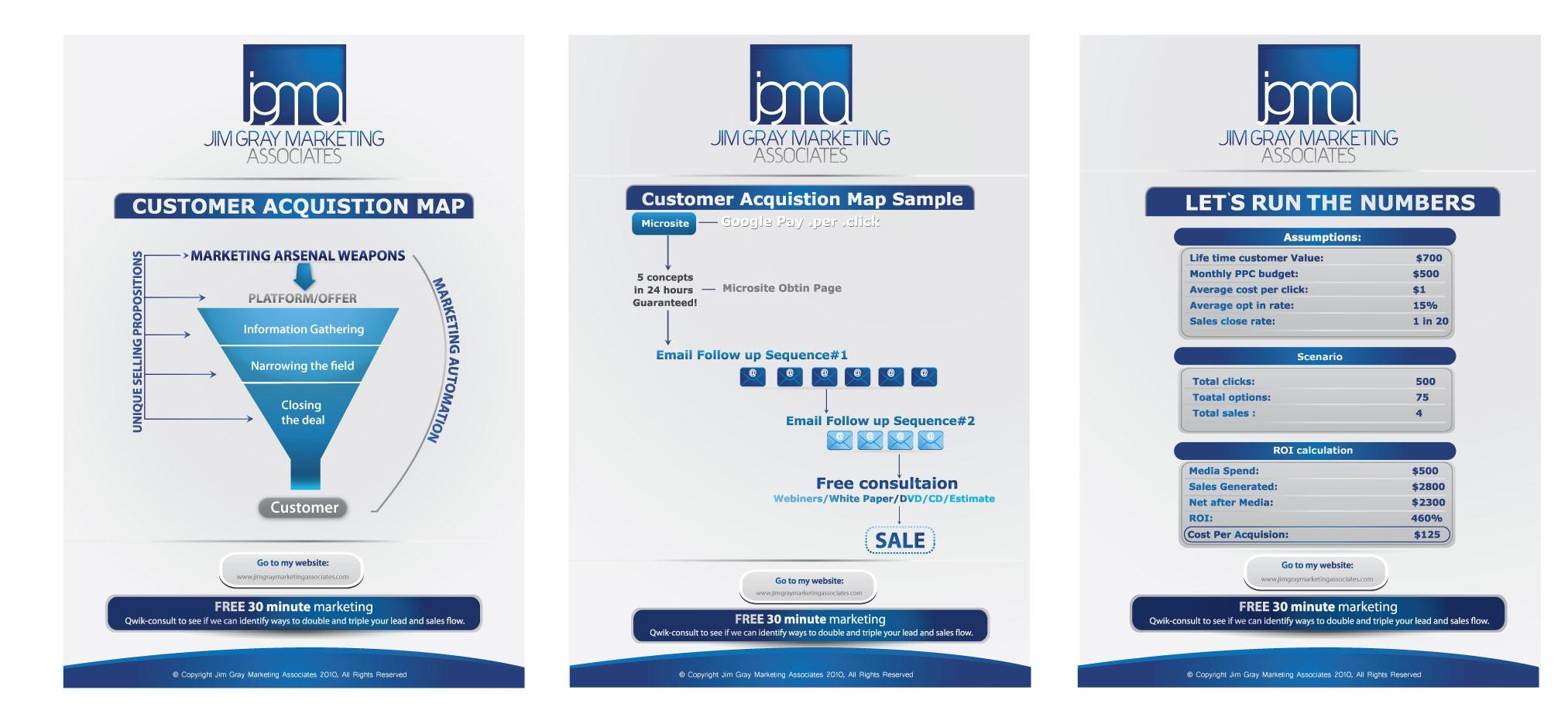 print or packaging design for Jim Gray Marketing Associates