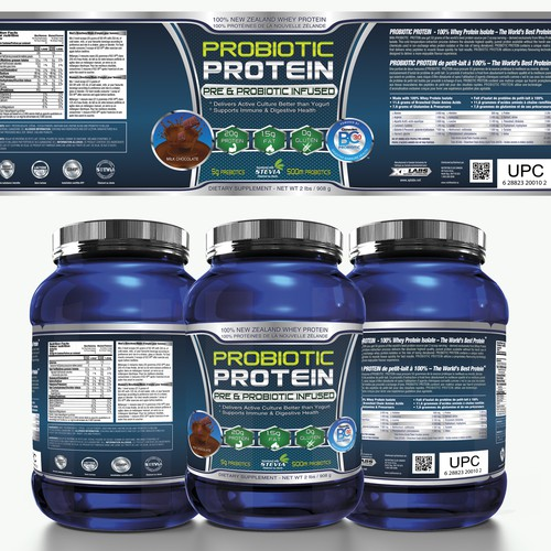 Create an ultra clean label designed for the fitness industry