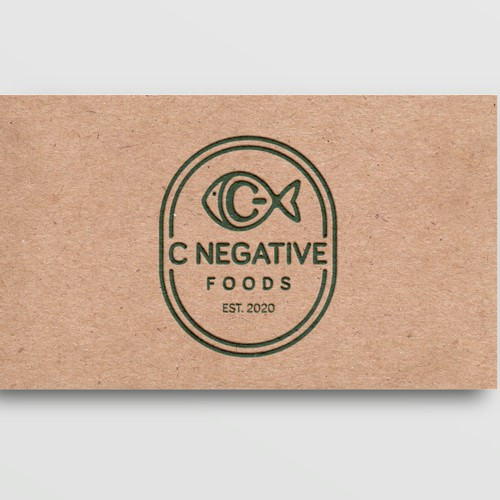 C negative logo