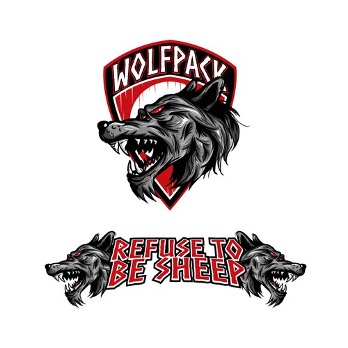 "bachelor party t-shirt design ""wolfpack"""