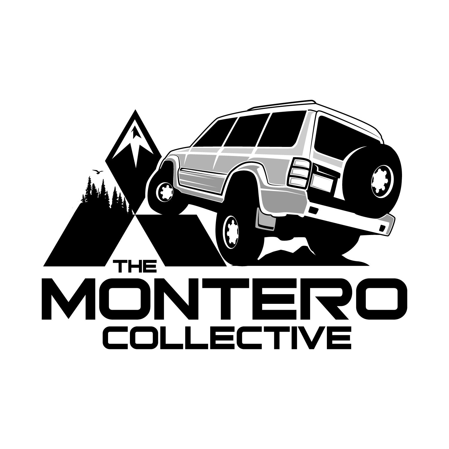 Design a logo for my growing Mitsubishi Montero Instagram page!