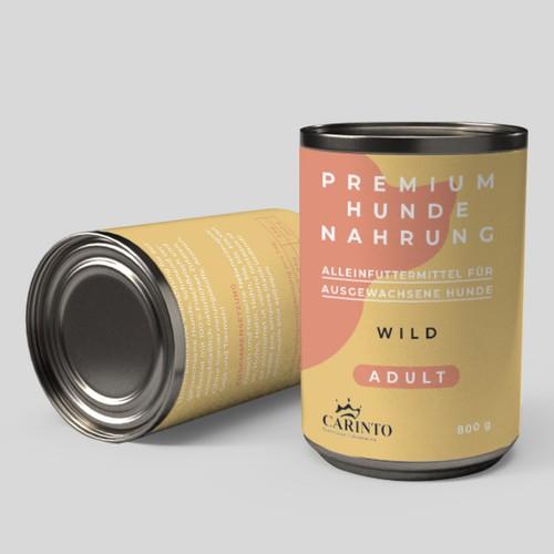 Etiketten-Design für Tiernahrung