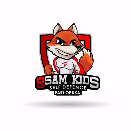 Logo for kids martial arts