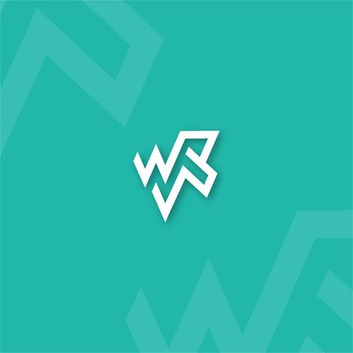 W R Letter Logo