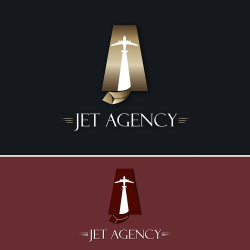 Jet Agency :logo for a private jets company