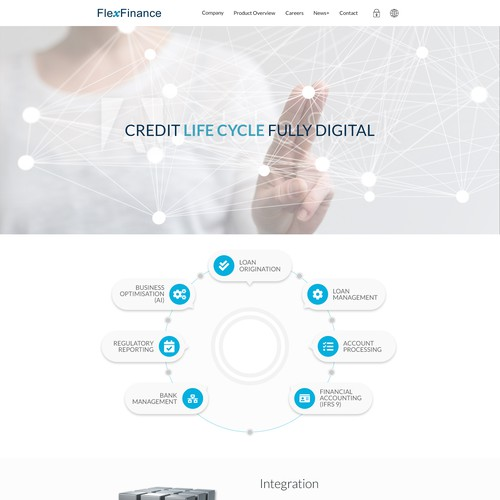 Financial website Landing Page Design