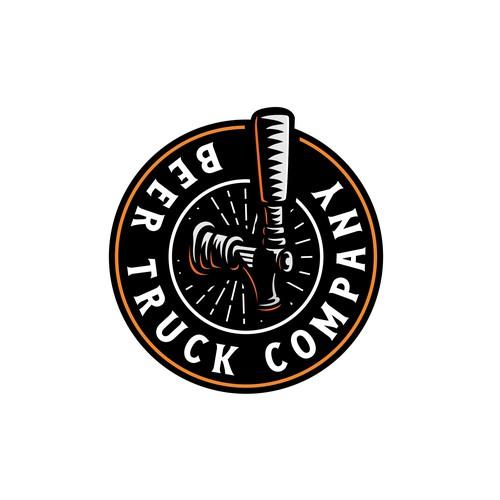 Beer truck company logo design