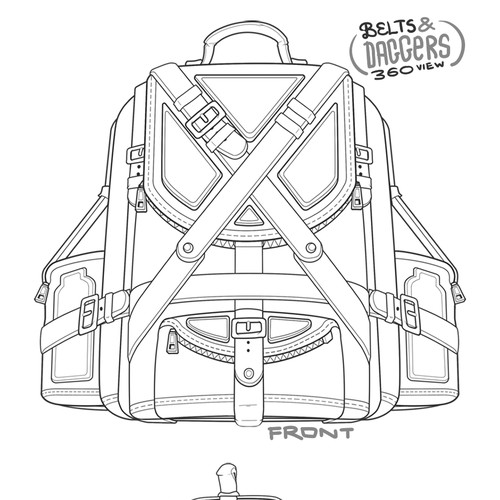 [PILLustration] Belts & Daggers Backpack