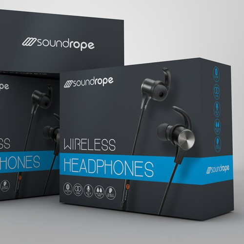 Minimalist package design for Soundrope