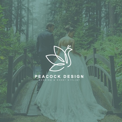 Logo for Peacock Design Wedding & Event Stylist