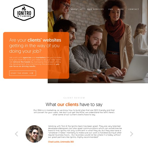 Web Development Firm Landing Page Redesign