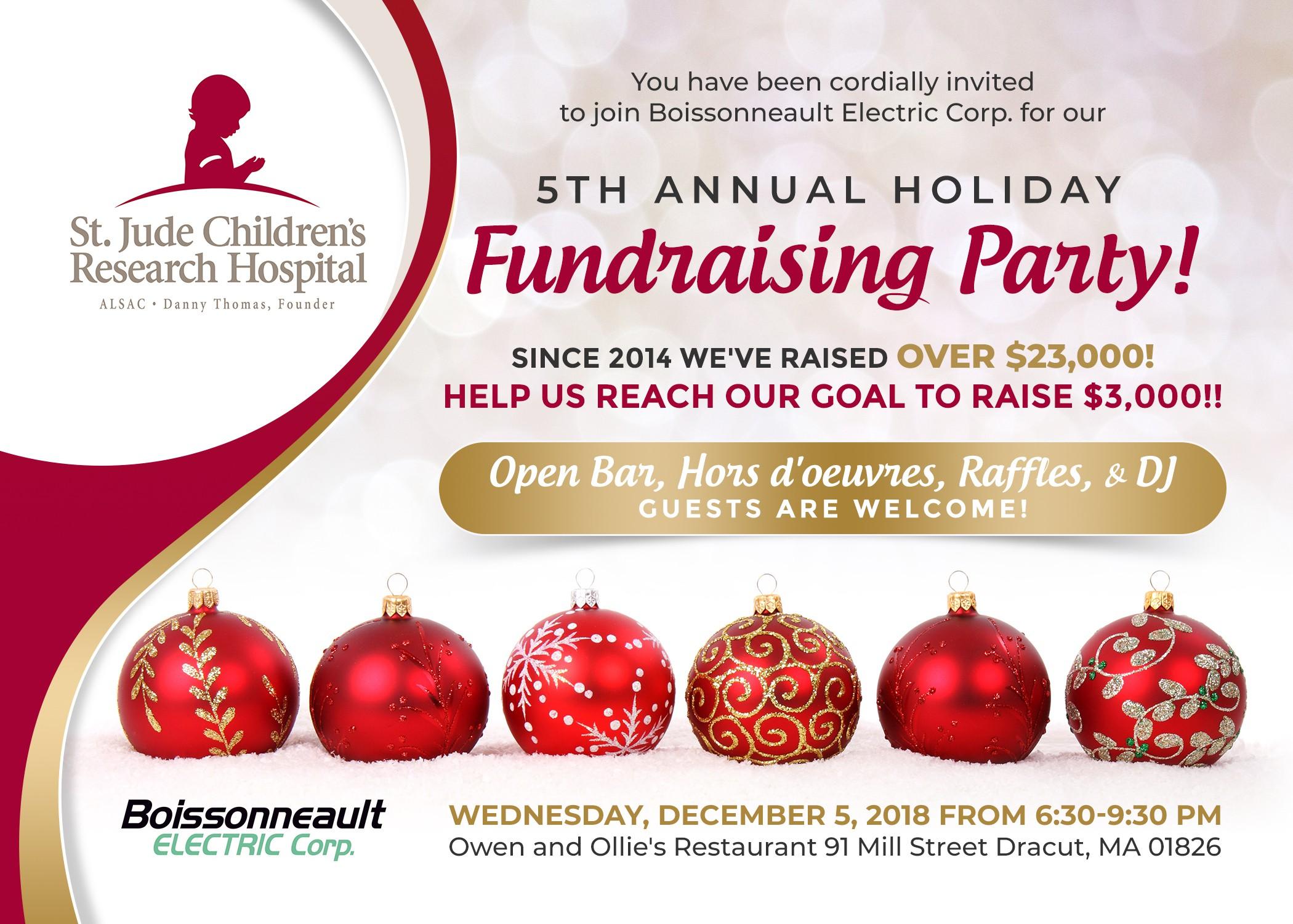 Design Holiday Fundraiser Invitation!