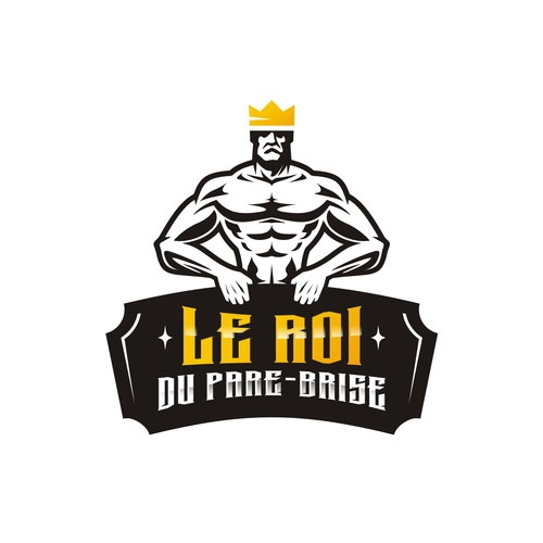 """Un logo pour """" Le Roi du Pare-Brise """" va falloir être musclé !!!"""
