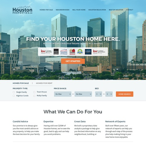 Luxury Real Estate Website Design for Houston Properties.