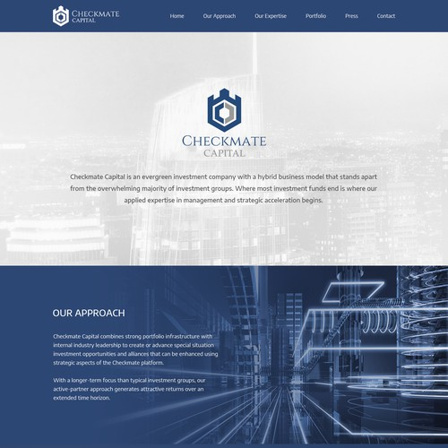 Responsive and Bilingual Wordpress Theme for Checkmate Capital