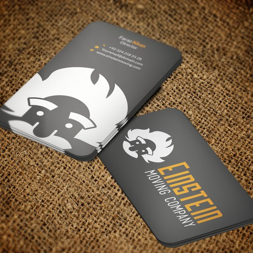 Clean, minimalist business card for Moving Company