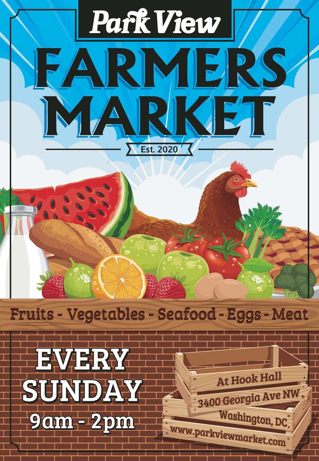 Poster design for Park View Market