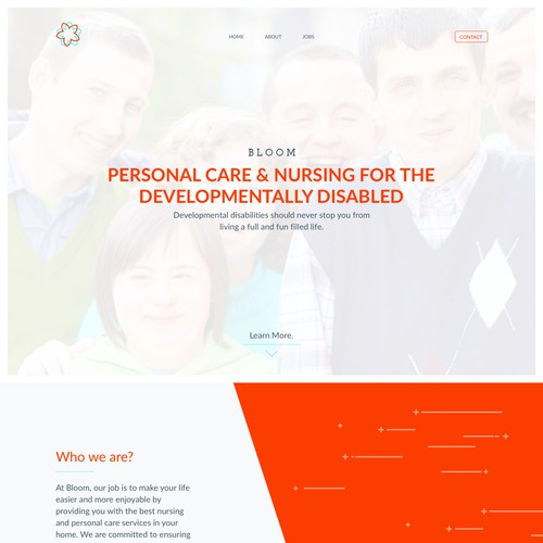 Nursing and personal care website