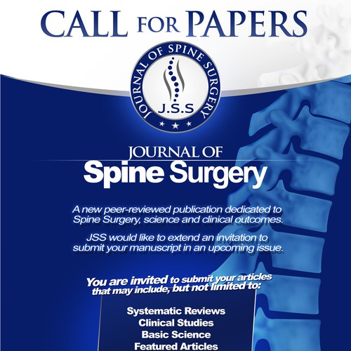Create capturing flyer for Spine Medical Journal