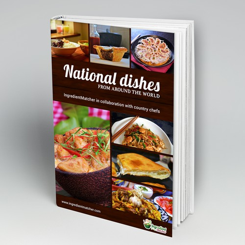 Cover for the cookbook with national dishes