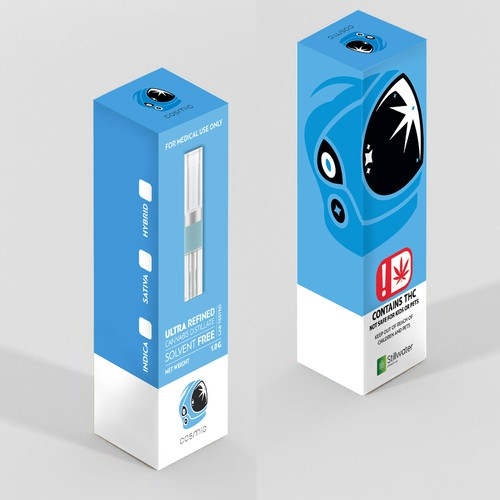 """Cosmic"" Cannabis Distillate Cartridge Box Art/Design"