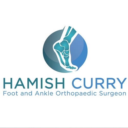 Foot and ankle orthopedic surgeon logo