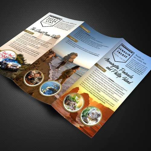Brochure for luxury travel agency