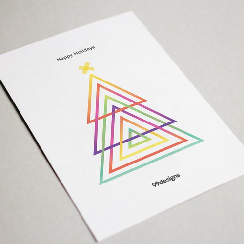 Minimal and Colorful Christmas Card