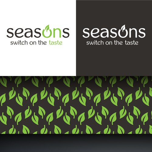 Logo and branding concept for a healthy food restaurant