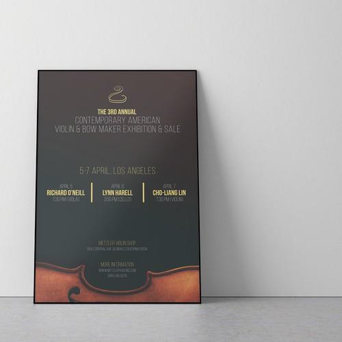 Poster for violin concert