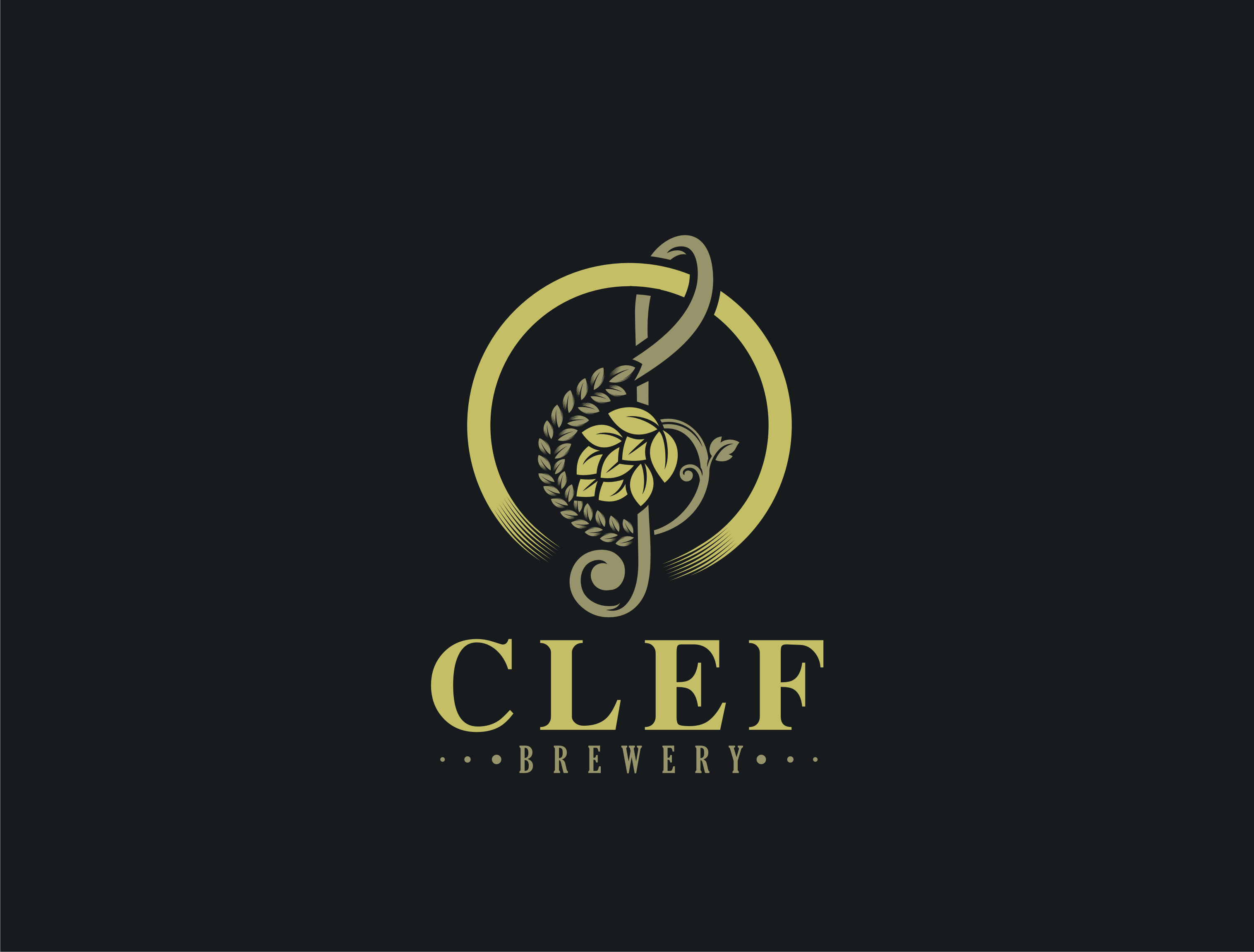Design logo for: Clef Brewery