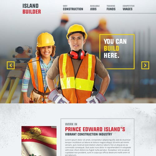 Landing Page for the Construction Recruitment Campaign